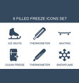 6 freeze icons vector image vector image