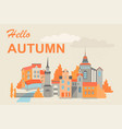 a european city in autumn vector image
