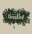 abstract breakfast banner with inscription vector image vector image
