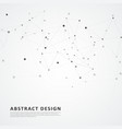 abstract connect dots and lines vector image vector image