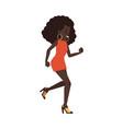 african woman dancing disco vector image