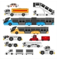 Airport ifrastructure transportation flat set vector image vector image