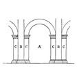 alette arch vintage engraving vector image vector image