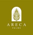 areca palm logo icon vector image vector image