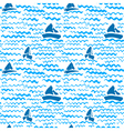 Artistic ink background on marine theme vector image vector image