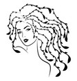 beautiful charming lady with stylized hair vector image vector image