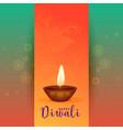 beautiful happy diwali festival greeting design vector image