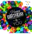 birthday card in bright colors on polka dots vector image vector image