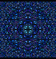 blue seamless abstract curved shape kaleidoscope vector image vector image