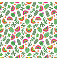 bright mexican style seamless pattern with cactus vector image vector image
