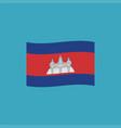 cambodia flag icon in flat design vector image vector image