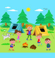 camping people vector image vector image
