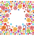 candies frame vector image vector image