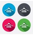 Cloakroom sign icon Hanger wardrobe symbol vector image