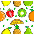 collection fruit fresh pattern style vector image vector image