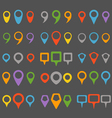 Color navigation pins collection vector image vector image