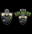 dead soldiers mascot vector image vector image