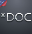 Doc file extension icon symbol 3D style Trendy vector image