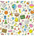 Education icons seamless pattern background vector image vector image