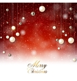 Elegant background with snow and Christmas garland vector image vector image