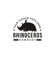 emblem bird and rhino logo icon vector image vector image