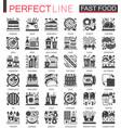 fast food classic black mini concept symbols vector image vector image