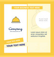 food dish company brochure template busienss vector image vector image