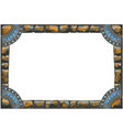 frame made of grey stones with ancient ornament vector image