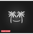 hammock and palm trees vector image vector image