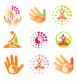 icons massage health spa vector image