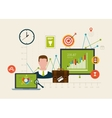 Icons set of modern business working elements vector image