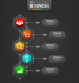Infographics business template concept