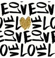 Love Typographic Seamless Pattern vector image vector image