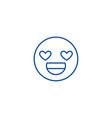 love you emoji line icon concept love you emoji vector image