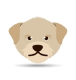 lovely head puppy dog portrait vector image vector image