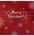 Merry Christmas interlaced lettering with vector image vector image