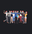 mix race people in masks holding sparklers new vector image