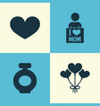 mothers day icon design concept set of 4 such vector image