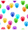 multicolored balloons seamless vector image