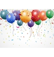 New Birthday celebration with balloon and ribbon vector image vector image