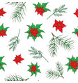 new year and christmas hand drawn plants vector image