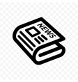 newspaper news line icon linear app vector image vector image