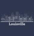 outline louisville kentucky usa city skyline vector image vector image