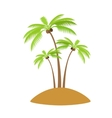 Palm Tree with Coconut vector image vector image