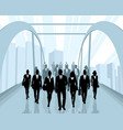 people going to work vector image vector image