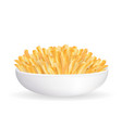 real french fries in a white bowl vector image vector image