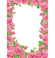 Roses frame vector image vector image