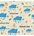 Seamless pattern with autumn elements vector image vector image