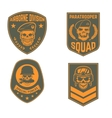 set military emblems templates skull in vector image