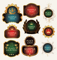 set of ornate label templates in the baroque style vector image